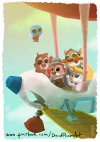 Chip and Dale, rescue rangers by D3iv