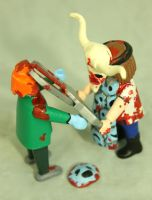 Z.A.P. 2 Day 26 Face Off Frankie by zombiemonkie