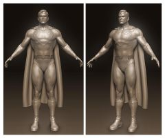 Superman sculpt by Dozogovi