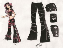 Metal Outfit 01 by HANNA-PRETTY