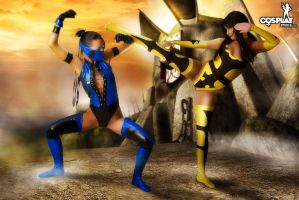Mortal Kombat with Ginger and Mea by cosplayerotica