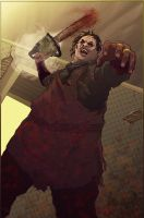 Leatherface pin-up by gatchatom