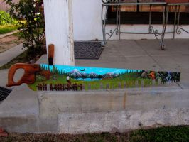 Painted Hand Saw by Nevuela