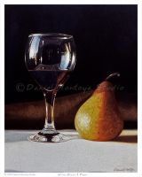 Wine Glass and Pear by DanielMontoyaStudio