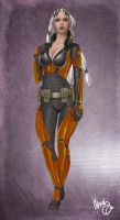 Zabrak Gunslinger by thedarkestseason