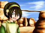 Toph, Warm Laughter by RoseLuna