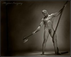 Warrior and Rope by ickylust