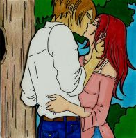 Leon and Claire : Kiss Under The Tree by LeonandClaireBSAA