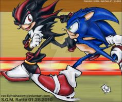 SON - Sonic vs Shadow by StephRatte