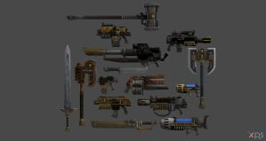 XPS Release! Space Marines Weapon Pack by Merytaten-tasherit