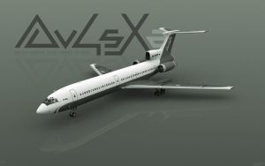 private plane tupolev tu154m by AlphaOmega2k