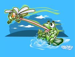 FROG AND DRAGONFLY FUN by BROWN73
