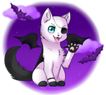 purple halloween by angelickittens