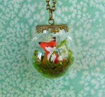 Fox Terrarium Necklace by CharmingLittleFox