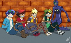 Tenkai Knights Tied up and Gagged by Mcpetra197