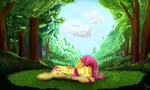 FlutterShy Sleeping by CreativPony