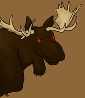 Killer moose by Alisha-town