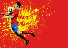 David Villa Vector Wallpaper by thomasdyke