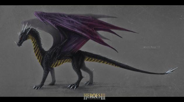 Black Dragon (HOMM III) by ElectricFangs