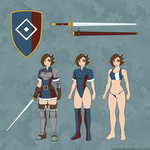 Elven Fighter - Character Sheet by RoninDude