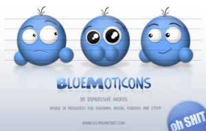 Preview - BlueMoticons - PSD by mauricioestrella