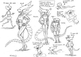Male and Female Aliens by heivais