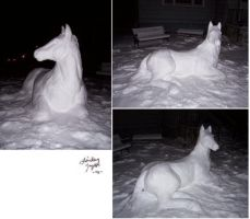 Snow Horse by LindseyTaylor