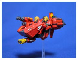 Blood Angels Land Speeder by jonnymorris
