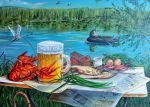 Beer and crayfishes by chebot