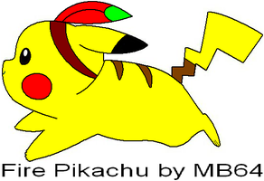 Fire Pikachu by MarioBlade64