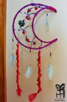 Healing Moon Dreamcatcher by mexicocitykitty