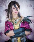 Morrigan cosplay - Inquisition ball gown by Achico-Xion