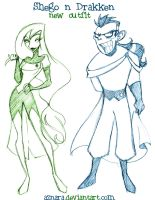 Shego n Drakken_new outfit by Aznara