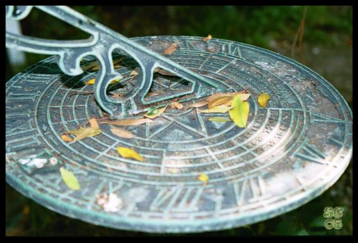 Copper Sundial, Green Rust by sguinn