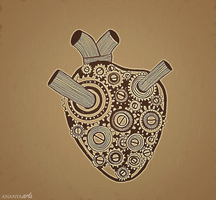 Mechanical Heart by AnanyaArts