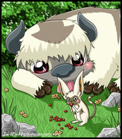 Momo and Appa by Isi-Daddy