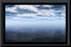 Watercolor--Sky, Clouds and Water by jbjdesigns