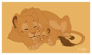http://tn3-1.deviantart.com/fs27/300W/f/2008/071/1/7/Lioness_and_Cub_by_dolphy.jpg