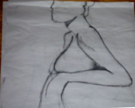 My first nude drawing by piesoup