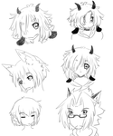 Faces of my Ocs by Wagoflabo