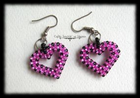 Pink hearts by Cayca