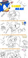 Sonic Meme my style XD by ricaHama