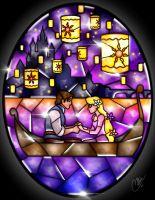 Stained Glass Tangled by CallieClara
