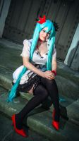 Hurry up, Prince! - World is Mine Miku Cosplay by KendraKei
