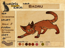 BGL: Badru, Application by Purrlstar