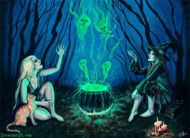 Witches' Cauldron by ElvenstarArt