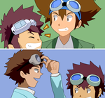 those two boys who are always wearing goggles... by BiePuuuu
