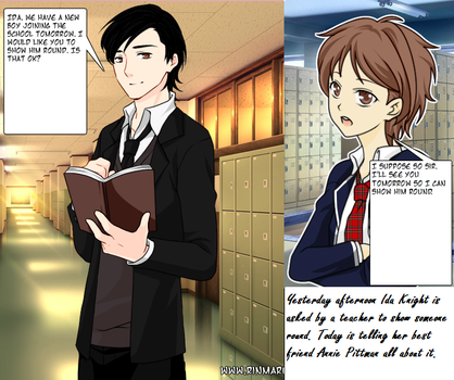 Supernatural School: The New Boy Page 1 by SupernaturandSciFi