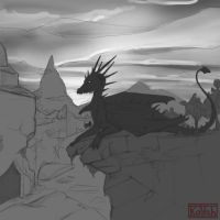 The Ruins of Vroengard wip by kovah