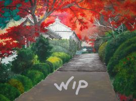 WIP - Japanese Garden by BlueShining